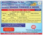 Bandra Terminus-Indore Summer Weekly Super Fast Special Trains