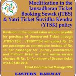 Modification in JTBS and YTSK Policy