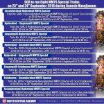 MMTS Special Trains on Ganesh Nimajjanam 2018
