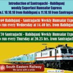 New Trains Humsafar Train Santragachi-Habibganj (Train No.22169/22170) Route, Time table, Features and Fare